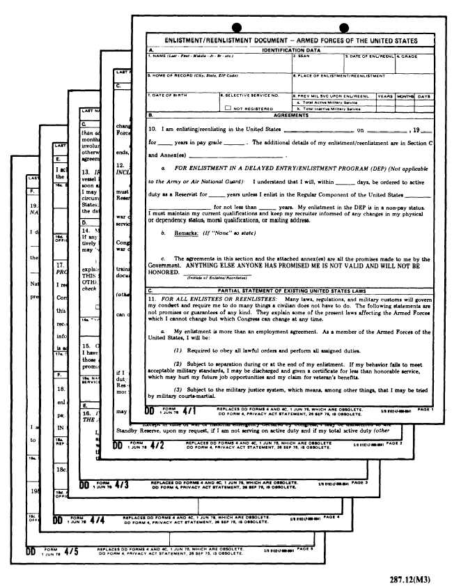 Figure 2-9.Enlistment or Reenlistment Agreement